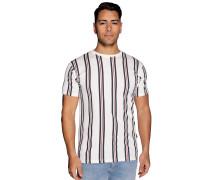 Kurzarm T-Shirt offwhite/navy/rot