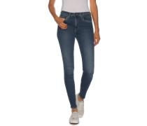 Jeans Skinny High Rise blau