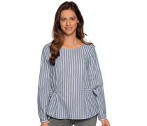 Langarm Blusenshirt blau/weiß gestreift
