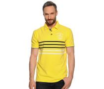 Kurzarm Poloshirt gelb
