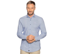 Business Hemd Slim Fit blau/weiß