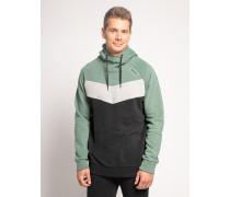 Kapuzensweatshirt schwarz/grün/grau
