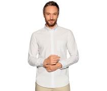 Langarm Hemd Regular Fit weiß/schwarz