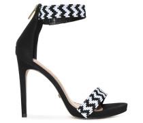 High Heels schwarz/weiß
