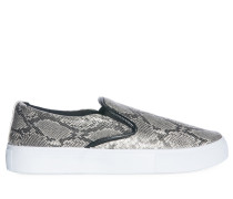 Slipper grau/weiß