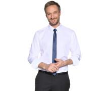 Hemd Slim Fit + Krawatte weiß/blau