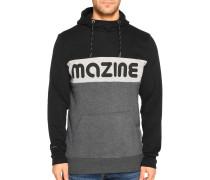 Kapuzensweatshirt schwarz/grau meliert