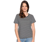 Kurzarm T-Shirt schwarz/weiß gestreift