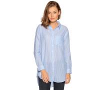 Langarm Bluse hellblau/weiß