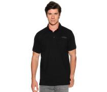 Kurzarm Poloshirt schwarz