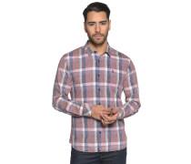Langarm Hemd Regular Fit blau/rosa