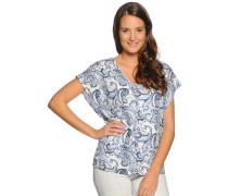 Blusenshirt, blau/weiß
