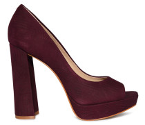 Peeptoes bordeaux