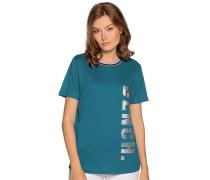 Kurzarm T-Shirt petrol