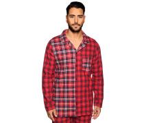 Pyjamaoberteil rot/navy kariert