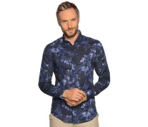 Langarm Hemd Slim Fit navy/blau