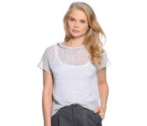 Kurzarm Blusenshirt weiß/schwarz