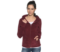Fleecejacke bordeaux