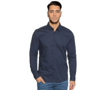 Langarm Hemd Slim Fit navy