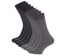 Socken 8er Set anthrazit/grau meliert