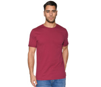 Kurzarm T-Shirt bordeaux