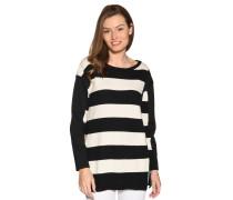 Pullover mit Kaschmiranteil schwarz/weiß