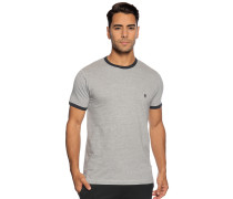 Kurzarm T-Shirt hellgrau melange