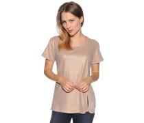 Kurzarm T-Shirt beige/bronze