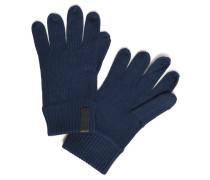 Handschuhe mit Kaschmiranteil blau