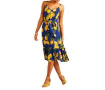 Kleid blau/gelb