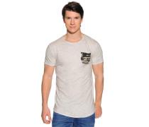 Kurzarm T-Shirt beige