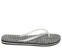 Zehentrenner schwarz/weiß
