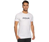 Kurzarm T-Shirt weiß/navy