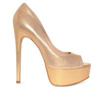 Peeptoes gold glänzend
