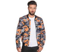 Jacke grau/orange