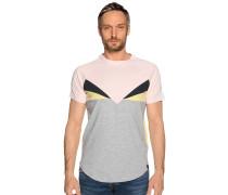 Kurzarm T-Shirt grau/rosa