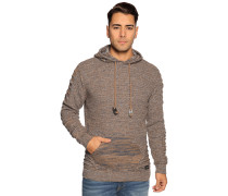 Pullover braun/navy meliert
