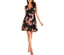 Kleid navy/mehrfarbig