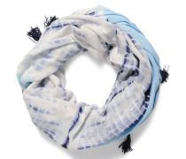 Loopschal, weiß/blau