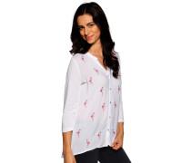 Langarm Bluse weiß/pink