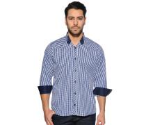 Langarm Hemd Regular Fit blau/weiß/kariert