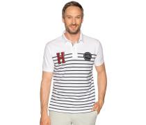 Kurzarm Poloshirt weiß/navy