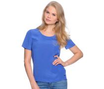 Kurzarm Seidenshirt blau