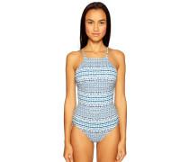 Badeanzug zum wenden blau/offwhite