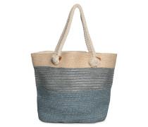 Tasche blau-beige