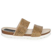 Sandalen beige/schwarz