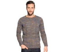 Pullover braun/blau meliert