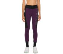 Sport-Leggings lila/schwarz