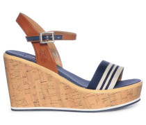 Wedges navy/braun
