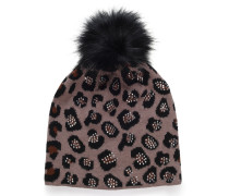 Mütze schwarz/braun